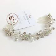 Свадебное украшение для волос с крупными кристаллами SU5